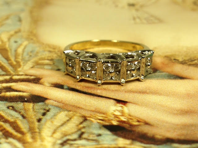 Engagement Jewelry Nashville Franklin TN L1481G. Ladies Estate Diamond Wedding Band Set In 10K White & Yellow Gold. SZ. 6 1/2. $599.00
