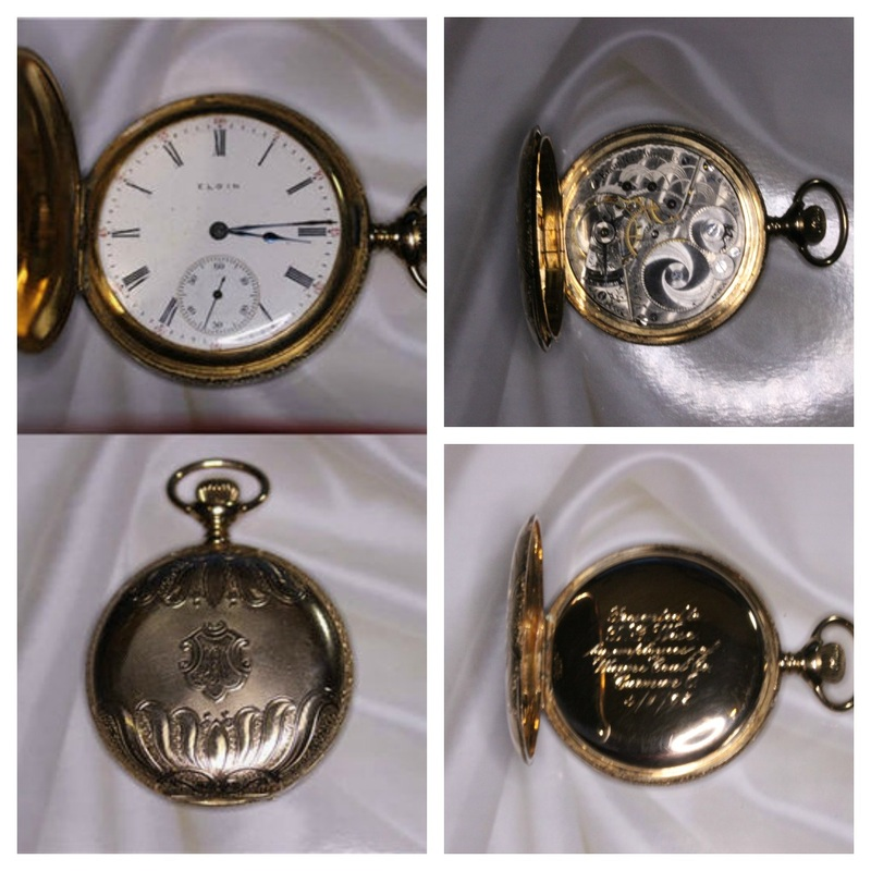 Estate Jewelry Nashville LP2111 1906 14K Elgin 15 Jewel Roman Numeral Pocket Watch #2668 out of 3000