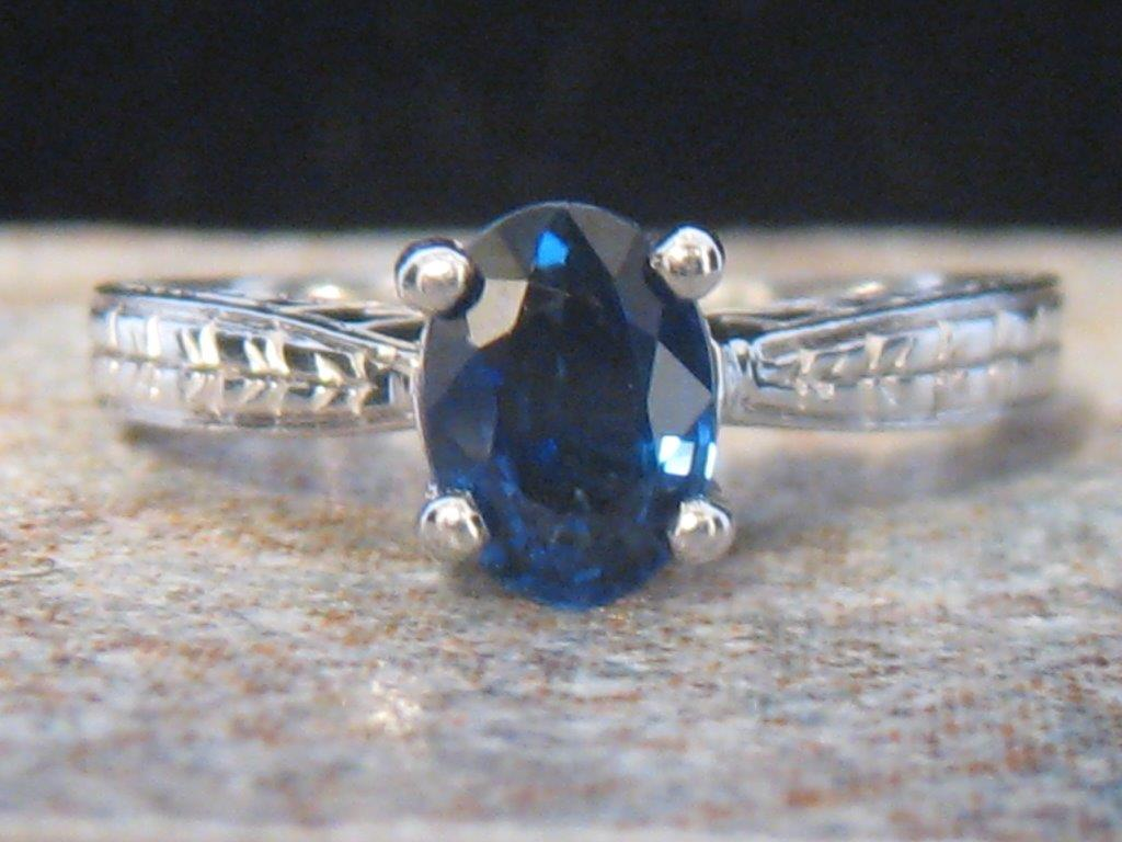 engagement rings nashville Vintage Engagement Ring Estate Engagement Jewelry LS9411 Stylish 14K Sapphire Engagement Ring 14K (tested) With Lab Sapphire Mounted In A Stunning Setting Size 6.5 $350.