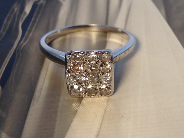 L742 Estate Antique 14k Diamond Engagement Ring. Size 6.5. $450