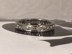 Diamond Engagement Jewelry Nashville Franklin TN P2146. Lovely Estate 14K Diamond Eternity Wedding Band. Size 6. $1000.00