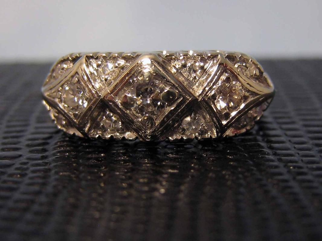 Diamond Engagement Ring Nashville L1022. Lady's Antique 14k Wedding Band. Size 6.25. .24 Total Diamond Weight. Appraisal Included. $995.00