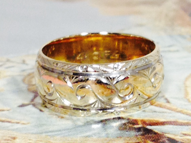 Estate Jewelry Nashville Franklin TN L1106. Estate 14K Yellow Gold Engraved Wedding Band. Size 6.5. $390.00