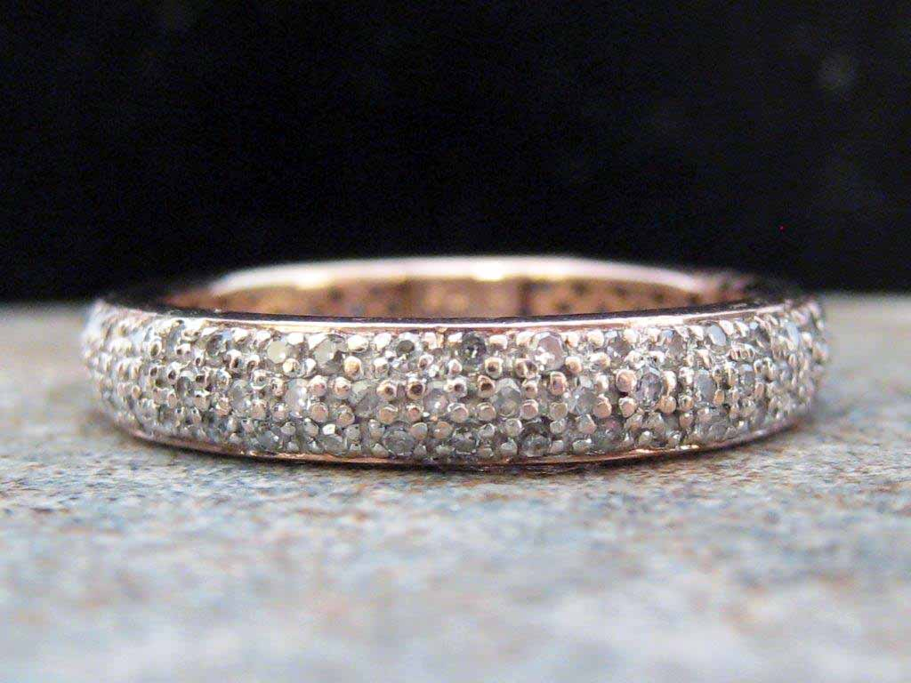 Vintage Engagement Ring Eternity Bands Nashville LP1133 A Dazzling 14K White Gold Pave Diamond Eternity Band. This Sparkling Eternity Band Is A Size 7.5. $1250.00