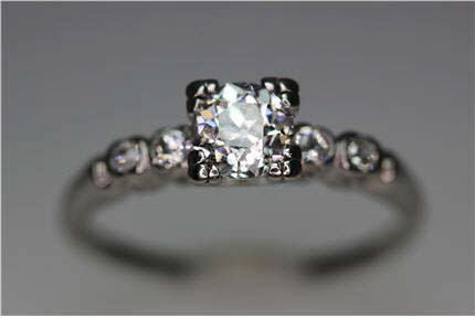 Diamond Vintage Engagement Rings Vintage Engagement Jewelry Nashville TN LP1906 Art Deco Platinum Illusion Set Diamond Ring VS2 clarity and J color. Size 9,$4100. (certified GIA appraised at $7200.) Ca