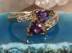 Estate Jewelry Franklin TN Nashville TN L2046. A Must... Estate Amethyst and Diamond 10K Ring In A Size 7. $248.00