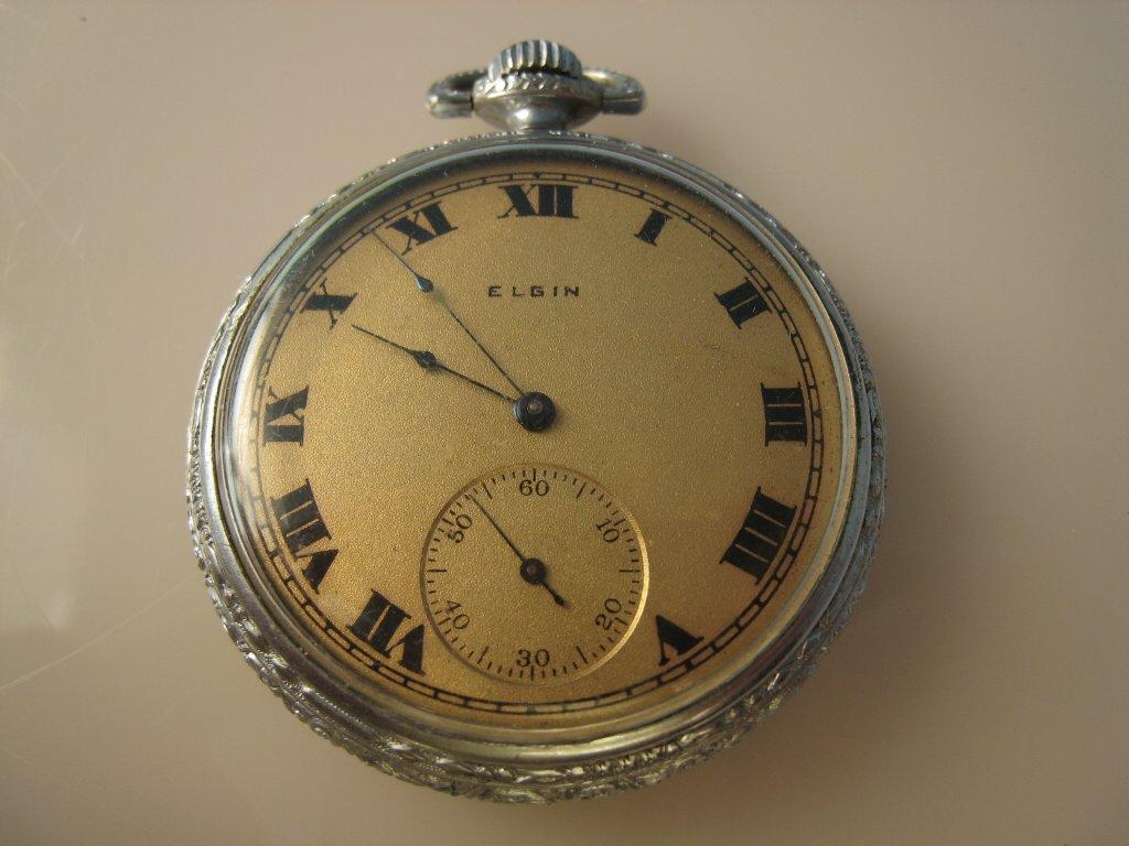Vintage Jewelry Franklin LP1158, CIRCA 1900'S ELGIN POCKET WATCH. RUNS. FROM FLORIDA ESTATE. $400
