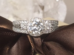 Diamond Engagement Ring Franklin TN LP2148 Estate Sparkling 14K Diamond Halo Engagement Ring. Center Stone Approximately .75 Carats. Size 6 1/2. $3900.