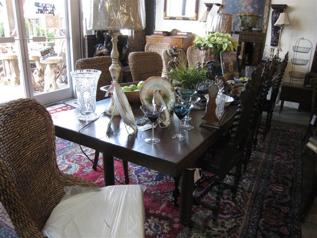 Antique Furniture Nashville TN Barley Twist Fold Over Dining Table. $1695.00