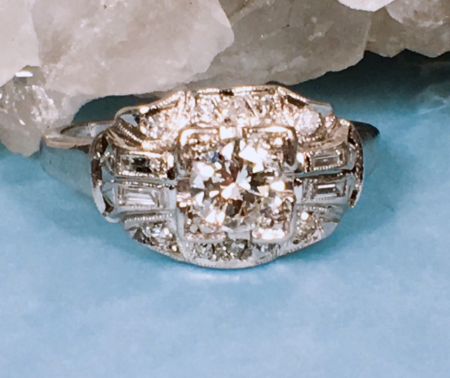 Engagement Jewelry Nashville Franklin TN L1725. Estate 14k Two Tone Art Carved Wedding Band. Size 8. $225.