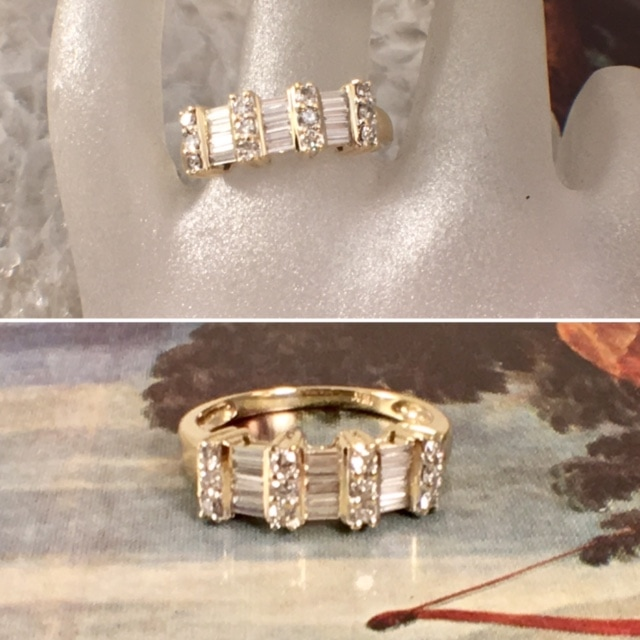 engagement rings nashville Vintage Engagement Ring Platinum Engagement Jewelry L2683. Love the combination of baguettes and round diamonds for a wedding band. Set in 14k yellow gold. $450.00