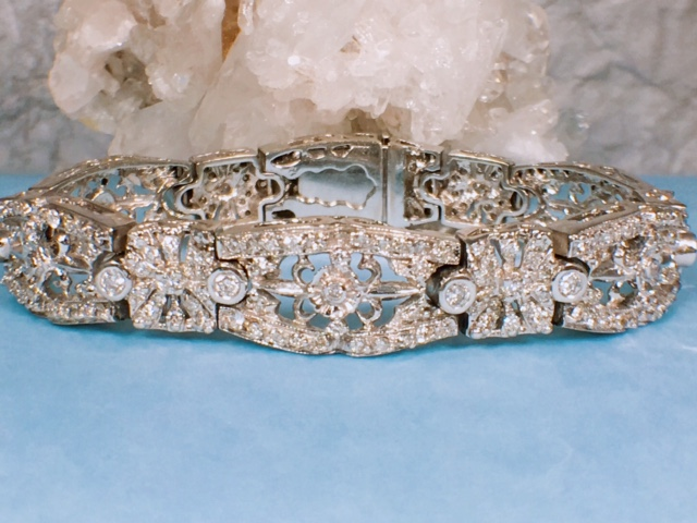 L282 14K Full Cut Face Diamond Bracelet. $5600. On Sale now for 25% off that price!!