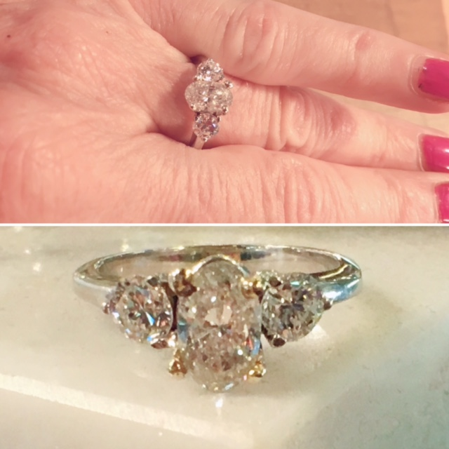 Vintage Engagement Ring Antique Engagement Rings Nashville L780 Fabulous Vintage Estate 3 Oval Diamond Engagement Ring. Size 6, 1.58 Total Carat Weight.  $5900 Appraisal Included.