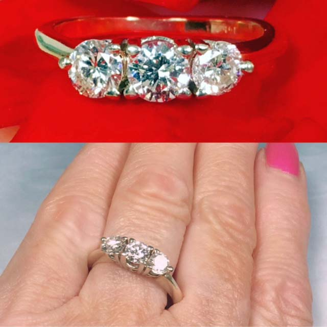 Diamond engagement ring Nashville Franklin TN. LP2154. Past, Present and Future Can Be Yours In This 14K Gold With Approximately .75 TCW Diamond Engagement Ring. Size 7 1/4. $1495.00