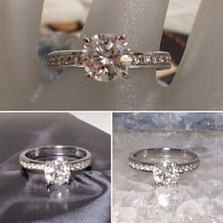 Estate Jewelry Nashville Franklin LP2296  Stunning Diamond Ring Round Brilliant Cut with side stones. SI1