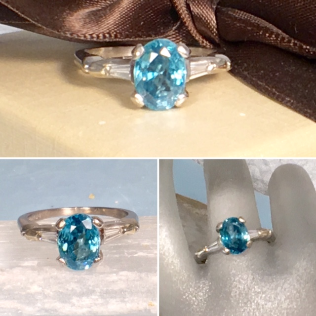 engagement rings nashville Diamond Vintage Engagement Ring Antique Engagement Jewelry LP2205 Designer 1.01cttw VS2, H Color Princess Diamond 14K White Gold Engagement Ring SZ 7 $2250.