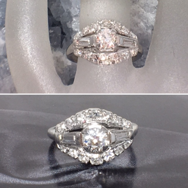 LP2311. Timeless, Cherished, Treasured Describes This Gorgeous Victorian Diamond Engagement Ring. Set in 14K With European Cut Diamonds Approximately .77 Total Diamond Weight. Circa 1880 -1890. Includes GIA appraisal . $1795.00